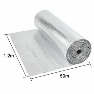 Double Aluminium Bubble Foil Insulation Thermal Loft Van Shed 1.2M x 50M 40M 30M