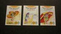 2015 NEW ZEALAND POST STAMPS, SET OF 3 CHILDRENS HEALTH SUNSMART MINT MNH