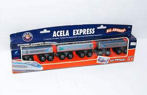 Lionel Heritage Series Acela Express Amtrak All Aboard Wooden Train Set 50264