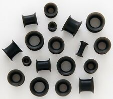 "1 Pair Black Flexi Silicone Ear Skin Tunnels 9/16"" 14mm Plugs Gauge Piercing 573"