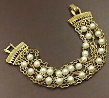bracciale vintage americano '60 perle firma Coro - signed pearls bracelet