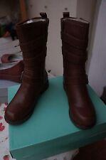 Clarks National Sugar, Boots biker femme - Marron - Braun (Brown Leather), 34 EU