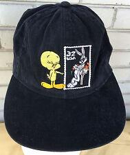 Looney Tunes Postage Stamp Tweety Bugs Bunny Snapback Baseball Cap Hat
