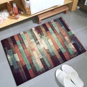 Rustic Farmhouse Barn Planks Kitchen Mat Non-Slip Carpet Bedroom Floor Area Rugs
