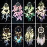 Dream Catcher Dreamcatcher Ornament Feather Wall Bedroom Car Home Decor Lights