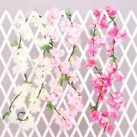 Artificial Flower Cherry Blossom Garland Vine Wedding Home Garden Decor 2.2m