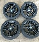 BMW 3 SERIES ALLOY WHEELS WITH TYRES IN GOOD CONDITION