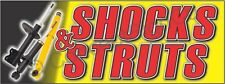 1.5'X4' Shocks & Struts Banner Outdoor Indoor Sign Auto Service Repair Shop Cv