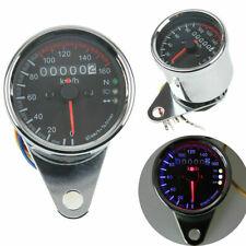 2.6'' Chrome Motorcycle Dual Odometer Speedometer Gauge For Yamaha Suzuki Ducati