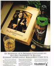 PUBLICITE ADVERTISING   1986  GLENFIDDICH  whisky
