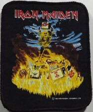 IRON MAIDEN Holy Smoke Original 1990 IMH Printed Sew On Patch Rare