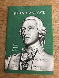 John Hancock Great American Patriot 1956 Booklet - Life Insurance Co.