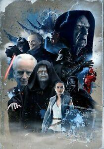 A3 Poster Print Star Wars Emperor Palpatine Ian McDiarmid Tribute Jedi Empire