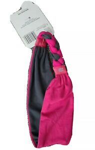 Reversible Braid Back Stretch Headband Gray Pink Scunci Everyday & Active
