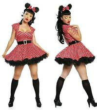Ladies Pin Up Mouse 4 pc costume M/L 10-12 uk Fancy Dress Hen Night