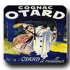 VINTAGE FRENCH OTARD COGNAC RETRO PUB BAR METAL TIN SIGN WALL CLOCK