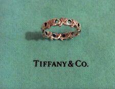 Tiffany & Co. Paloma Picasso Sterling Silver XO Love Kisses XOXO Band Ring