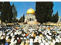 BG14559 moslems praying in the yard of the dome of the rock  jerusalem  israel