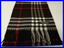 2 PLY Cashmere Scarf Soft 72X12 Black White Red Check Plaid Scotland C12 Men