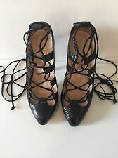 Christian Louboutin Bloody Mary Python Lace Up heels UK 6.5 EU 39.5 Tie up