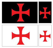 4 X KNIGHTS TEMPLAR SYMBOL FLAG VINYL CAR VAN IPAD LAPTOP STICKER