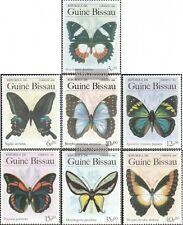 Guinea-Bissau 811-817 (kompl.Ausg.) postfrisch 1984 Schmetterlinge