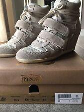 Scarpe Sneakers donna Ash N 38 Pelle Beige