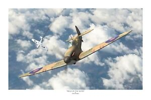 "WW2 RNZAF RAF Spitfire Battle Of Britain Aviation Art Photo Print - 12"" X 18"""