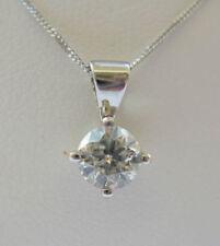 Collares y colgantes de joyería con diamantes naturales de oro blanco SI2