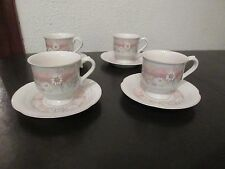 8 Pc Set Mikasa Lyric Summer Song CB 901 Tea Cups & Saucers, Daises in a Field