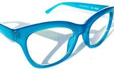 蓝色光阻塞时尚读卡器电脑女式眼镜格林威治水鸭蓝