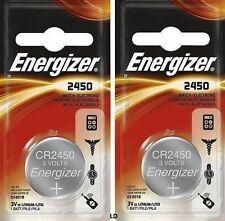 Energizer ECR2450 CR2450 (2 piece) BR2450 Lithium 3V Battery New AuthorizedSellr