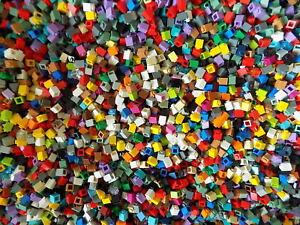 LEGO 1x1 Bricks Assorted Colors Mosaic Modular Bulk100 random colorfrom huge lot