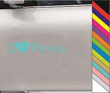 "New 15 Colors  ""I love PENIS"" JDM Decal Car Window Bump Funny Vinyl Sticker"
