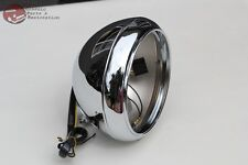 "Motorcycle Smooth Chrome 7"" Head Light Lamp Bulb Bucket Housing Heritage Fat Boy"