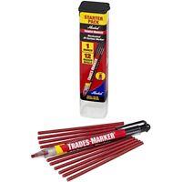 Markal 96132trades-marker Starter Pack, Red