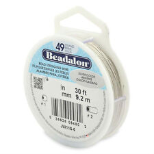 Beadalon Bead Stringing Wire 49 strand .015-.018-.024 30 ft BEST FLEXIBILITY