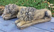 Canova Pair of lions Chatsworth House England stone home or garden ornaments