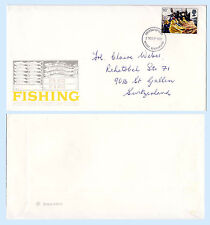 Great Britain 1981 1st Day Cover Fishing Fdc 957 Marine Life to Switzerland