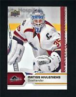 2017-18 17-18 UD Upper Deck AHL Hockey Base #22 Matiss Kivlenieks