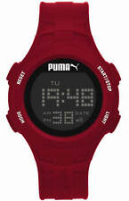 Unisex Puma Loop Chronograph Digital Red Silicone Watch PU911301003