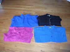 WOMENS BLACK  JACKET SZ M  PINK & BLUE SWEATERS & BLUE JACKET  1X433