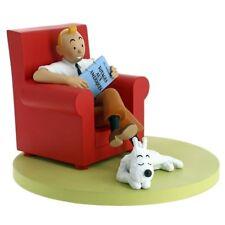 TIM und STRUPPI Zuhause im Sessel Figur Statue MOULINSART 46404 tintin NEU (L) *