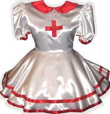 """Nettie"" Custom Fit NURSE Adult LG Baby Sissy Dress Costume LEANNE"