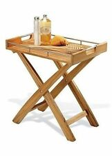 "23"" A GRD TEAK SPA BATH BUTLER SIDE TRAY SHOWER STOOL PATIO TABLE OUTDOOR INDOOR"