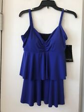 New Magicsuit Twilight Blue Tankini Top SZ 14 $72