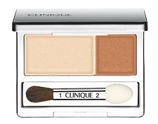 2 New Clinique All About Eye Shadow Duo - 02 Sand Dunes - Full Size Each