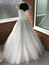 MORI LEE WEDDING DRESS IVORY SIZE UK 14 (ONE ONLY)