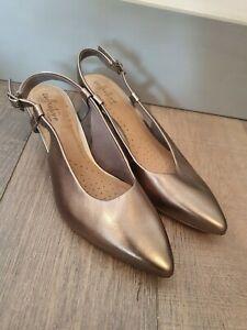CLARKS Ultimate Comfort Pointed Toe Slingback Shoes Size UK6D