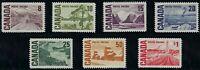 Scott 461-465A: 1967 Centennial High Values, Plain paper set with Dex Gum, VF-NH